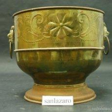 Antigüedades: CAZO ANTIGUO DE COBRE CON ASAS PARA SUJETAR 19 CM DE ALTO 20 CM DE DIÁMETRO PESO: 600 GR. F250. Lote 61312683