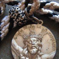 Antigüedades: SEMANA SANTA SEVILLA - MEDALLA CON CORDON HERMANDAD DEL CACHORRO - CRISTO EXPIRACION Y PATROCINIO. Lote 104415451
