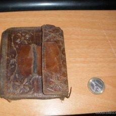 Antigüedades: CARTERA DE HOMBRE ANTIGUA EN CUERO. Lote 61333483