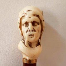 Antigüedades: EXCEPCIONAL BASTON ANTIGUO CON MANGO EN MARFIL DE ORIGEN FRANCES,S. XIX. Lote 61357910