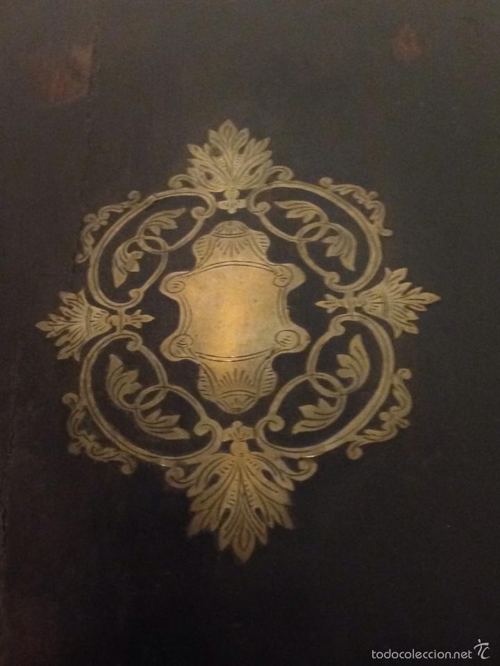 Antigüedades: Licorera francesa napoleon III con marquetería de laton - Foto 13 - 61358620