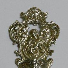 Antigüedades: ANTIGUA BENDITERA EN PLATA MACIZA. MIDE 8 CMS DE ALTURA X 4,8 CMS DE ANCHURA. UNA PRECIOSIDAD, VER . Lote 61384455
