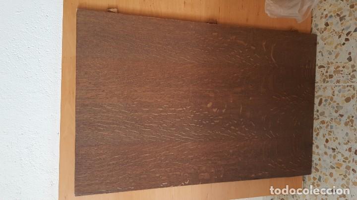 Antigüedades: Mesa de comedor en madera de roble con talla en las patas. Extensible. - Foto 5 - 61385967