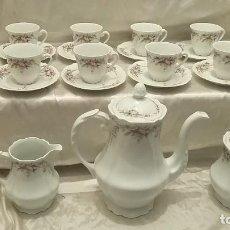Antigüedades: JUEGO DE CAFÉ COMPLETO DE LIMOGES. FRANCIA. Lote 61389735
