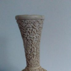 Antigüedades: JARRÓN CHINO LABRADO BLANCO. Lote 61395907