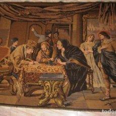 Antigüedades: TAPIZ COSTUMBRISTA (130 X 175 CM). Lote 61402975
