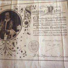 Antigüedades: PIO XII BENDICIÓN APOSTOLICA.. Lote 61406283