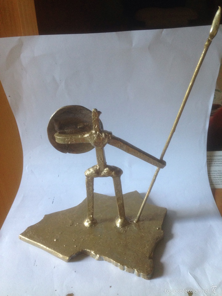 Antigüedades: Escultura de hierro, España sin cabeza - Foto 2 - 61406433