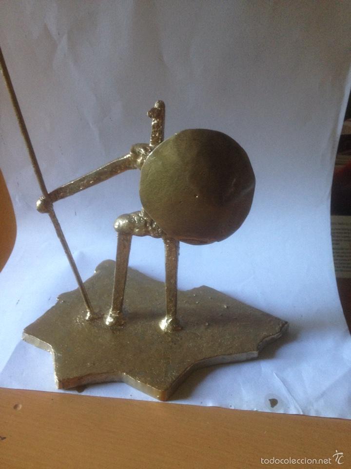 Antigüedades: Escultura de hierro, España sin cabeza - Foto 3 - 61406433