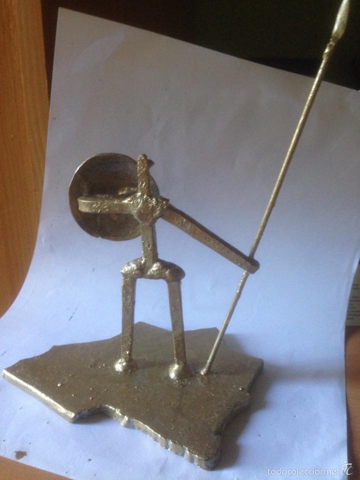 Antigüedades: Escultura de hierro, España sin cabeza - Foto 4 - 61406433