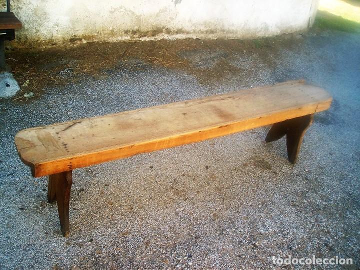 Banco rustico antiguo de madera de casta o comprar muebles auxiliares antiguos en - Banco de madera rustico ...