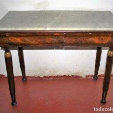 Antigüedades: ANTIGUA CONSOLA IMPERIO EN MADERA DE CAOBA. ESPAÑA. CIRCA 1820.. Lote 61477687