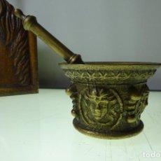 Antigüedades: ALMIREZ DE GRAN PESO - IMITANDO A LOS DEL S-XVIII - BRONCE - 1726GR. - 4 CARAS - CON COSTILLAS. Lote 61490899