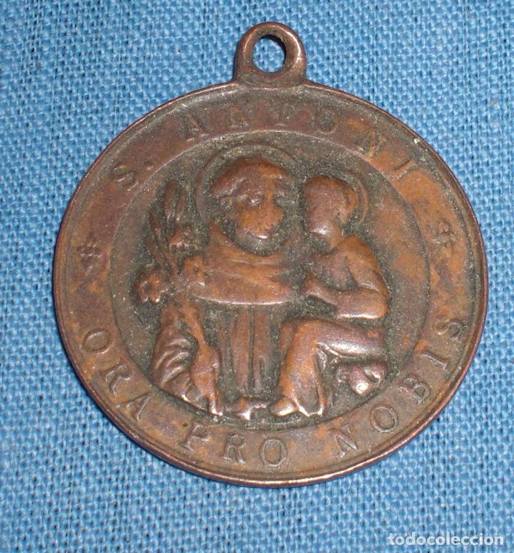 Antigüedades: Antigua medalla Cruz de Malta San antonio - Foto 2 - 61506807