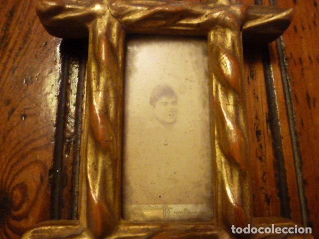 Antigüedades: MARCO DORADO CRUCERO CON FOTO - Foto 5 - 61539988