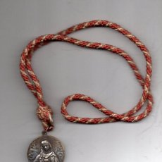 Antigüedades: MAGNIFICA MEDALLA DEL CORAZON DE MARIA, REVERSO SAN ANTONIO MARIA CLARET,BAÑO PLATA,40MM DIAMETRO. Lote 61543856