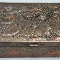 Antigüedades: ANTIGUA Y PRECIOSA CAJA DE METAL CHINA. FINALES SIGLO XIX. Lote 61547900