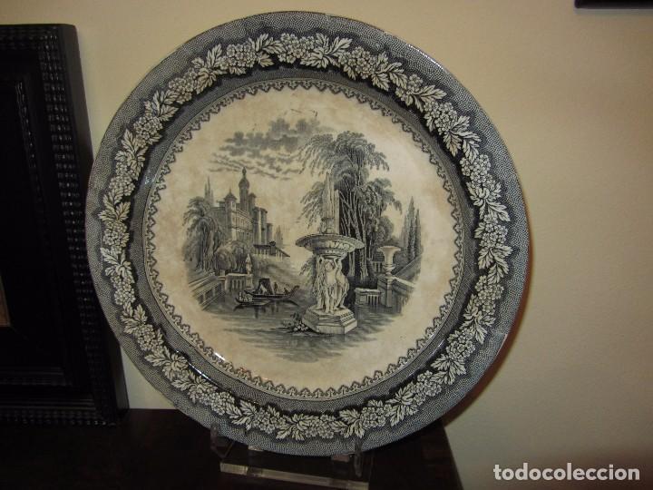 PRECIOSO PLATO SARGADELOS SIGLO XIX - SERIE VISTAS IMAGINARIAS - (Antigüedades - Porcelanas y Cerámicas - Sargadelos)