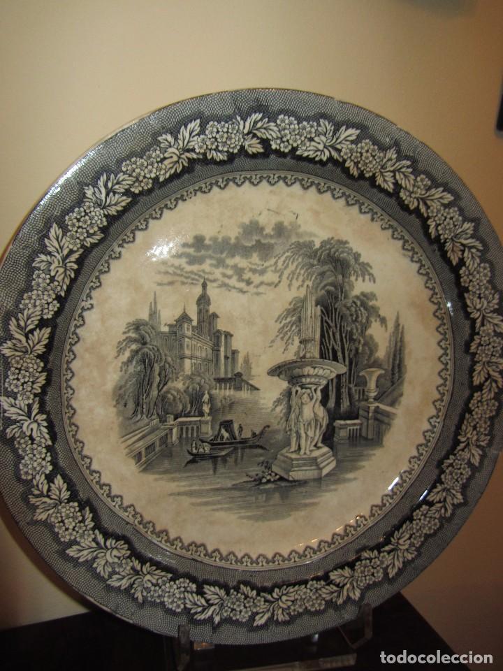 Antigüedades: Precioso Plato Sargadelos Siglo XIX - Serie Vistas Imaginarias - - Foto 5 - 170976973