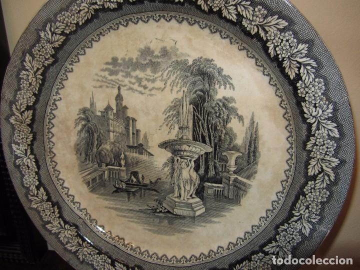 Antigüedades: Precioso Plato Sargadelos Siglo XIX - Serie Vistas Imaginarias - - Foto 6 - 170976973
