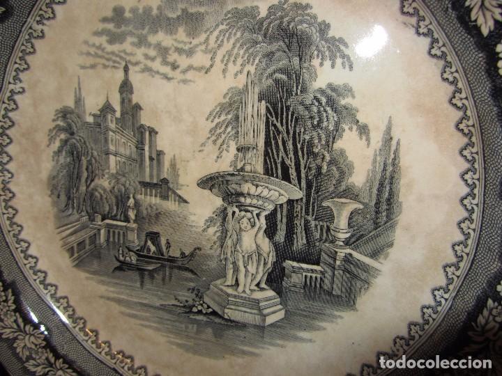 Antigüedades: Precioso Plato Sargadelos Siglo XIX - Serie Vistas Imaginarias - - Foto 7 - 170976973