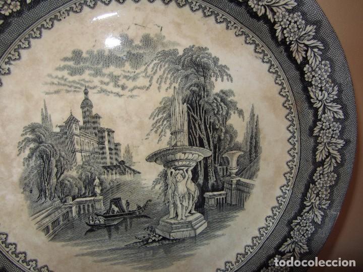 Antigüedades: Precioso Plato Sargadelos Siglo XIX - Serie Vistas Imaginarias - - Foto 8 - 170976973