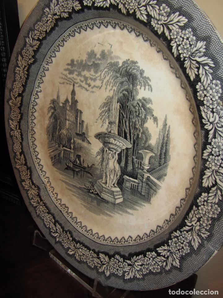 Antigüedades: Precioso Plato Sargadelos Siglo XIX - Serie Vistas Imaginarias - - Foto 2 - 170976973