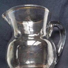 Antigüedades: JARRA DE CRISTAL SOPLADO DORADO SANTA LUCIA, CARTAGENA, MURCIA O GRANJA. Lote 61575164