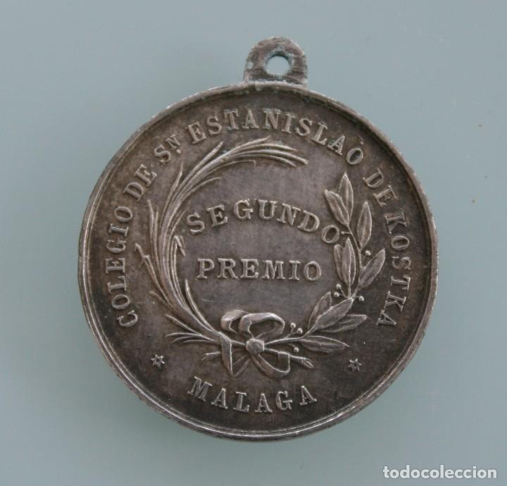 Antigüedades: ANTIGUA MEDALLA COLEGIO SAN ESTANISLAO DE KOSTKA MALAGA SCIENTIAE ALTRIX ET MAGISTRA - Foto 2 - 61575248