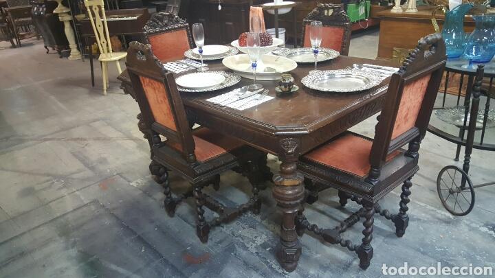 antiguo conjunto de mesa y sillas de comedor, s - Comprar Mesas ...