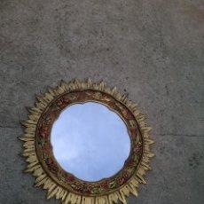 Antigüedades: ESPEJO SOL MADERA. Lote 61602776