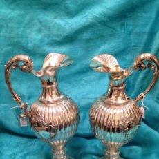 Antigüedades: JARRAS DE PLATA DE LEY. Lote 61614583