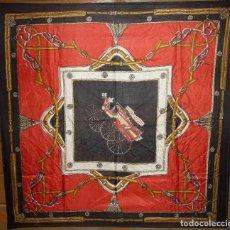 Antigüedades: VINTAGE PAÑUELO DE SEDA NATURAL 100% . MADE IN INDIA. Lote 61623956