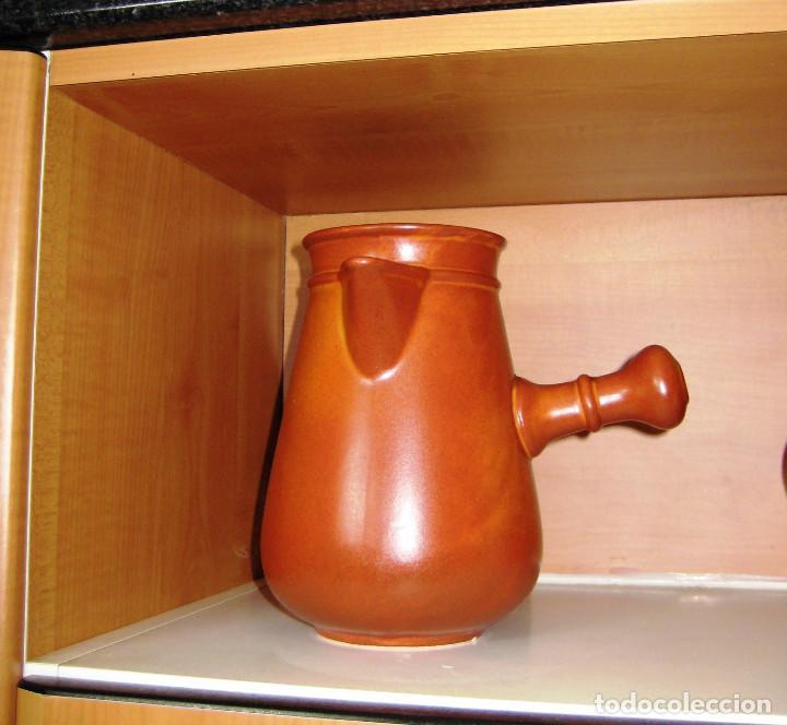 CHOCOLATERA- CERÁMICA-POTTERY SATINADA (Antigüedades - Porcelanas y Cerámicas - Otras)