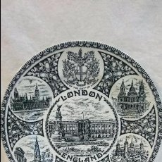Antigüedades: PLATO DECORATIVO WOOD&SONS LONDON. Lote 61631844