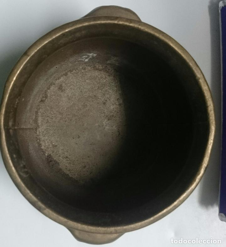 Antigüedades: VACIJA BRONCE MACIZO - Foto 3 - 61641132