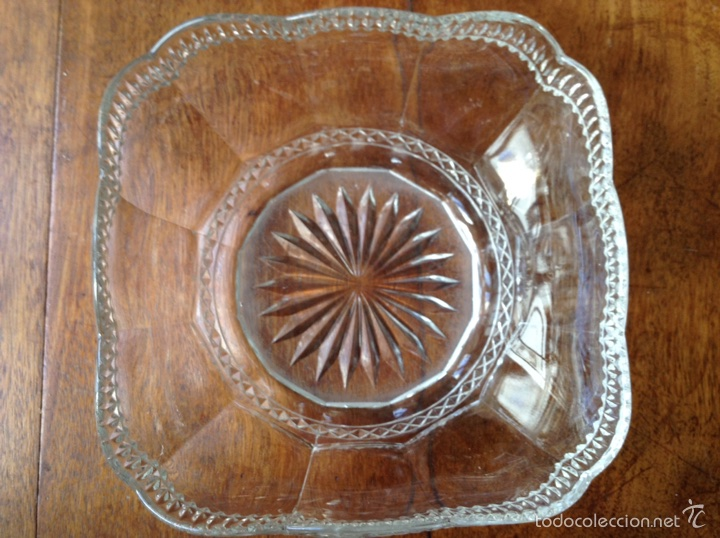 Antigüedades: Frutero vidrio prensado modernista - Foto 2 - 61660156