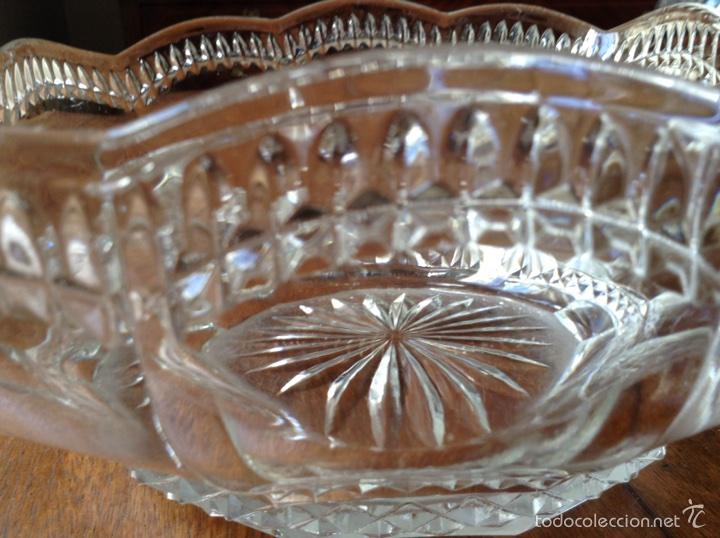 Antigüedades: Frutero vidrio prensado modernista - Foto 3 - 61660156