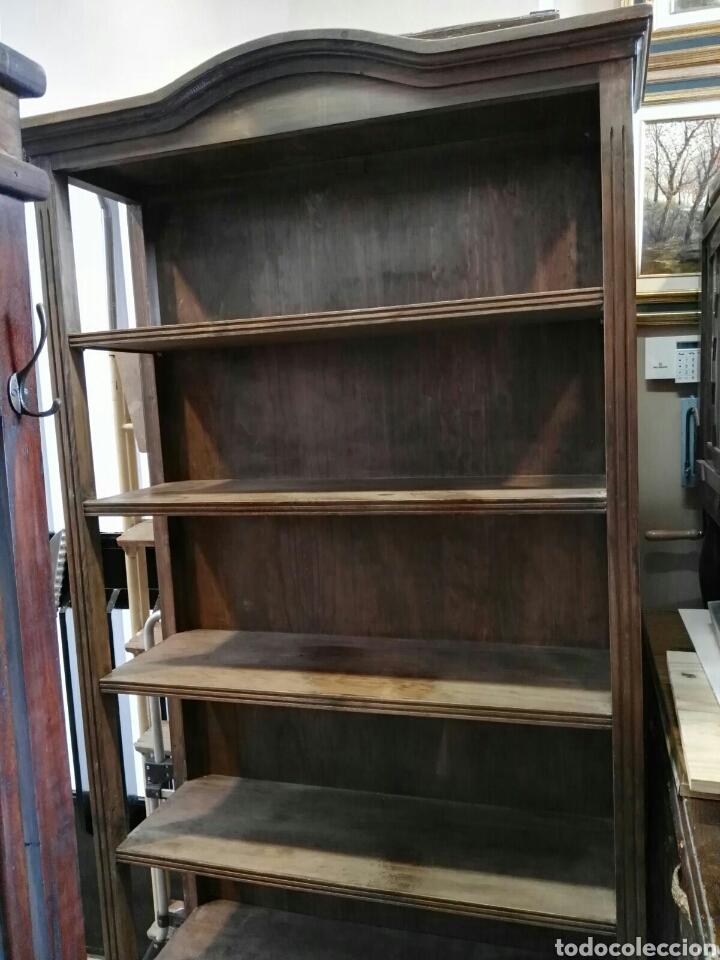 libreria estanteria antigua de madera de pino t - Comprar Armarios ...