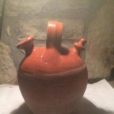 Antigüedades: ANTIGUO BOTIJO / CANTI DE CERAMICA MARRÓN VIDRIADA AÑOS 40-50 . Lote 61673276