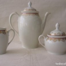 Antigüedades: CAFETERA - TETERA - AZUCARERO - JARRA LECHE - LECHERA - SANTA CLARA. Lote 61674092