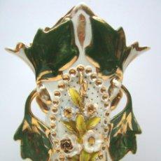 Antigüedades: 25 CM - ESPECTACULAR JARRON FLORERO PORCELANA VIEJO PARIS SIGLO XIX. Lote 61699992