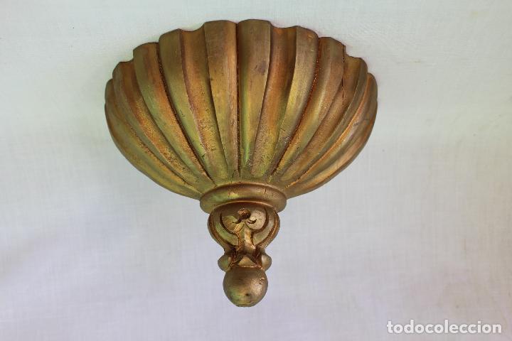 MENSULA EN MADERA DORADA (Antigüedades - Muebles Antiguos - Ménsulas Antiguas)