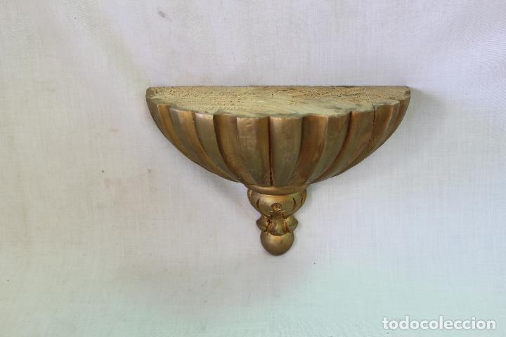 Antigüedades: mensula en madera dorada - Foto 2 - 61711704