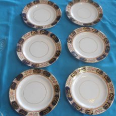 Antigüedades: 6 PLATOS UTHERLAND CHINA, MADE IN ENGLAND. Lote 61744372