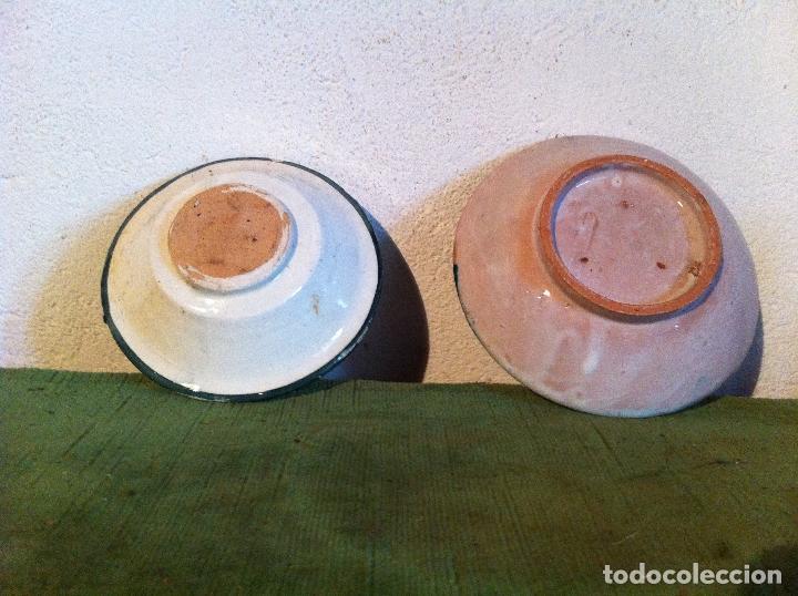 Antigüedades: DOS ANTIGUOS PLATITOS DE CERAMICA DESCONOCIDA - Foto 2 - 61761496