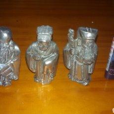 Antigüedades: LOTE 3 ANTIGUAS FIGURAS EN METAL. Lote 61768090