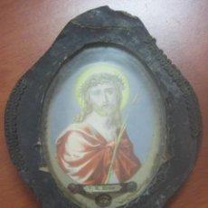 Antigüedades: PRECIOSO RELICARIO CON RELIQUIA DEL SIGLO XVIII, EN CRISTAL Y SELLADO. Lote 61814316