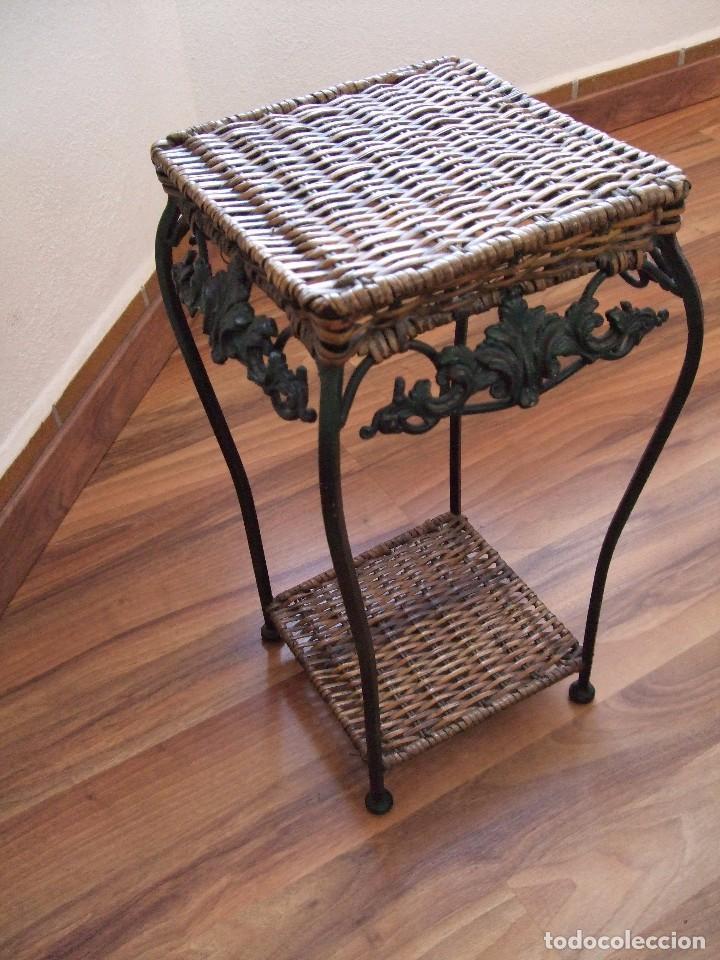 Pedestal velador mueble mesa auxiliar macet comprar for Mesa telefonera