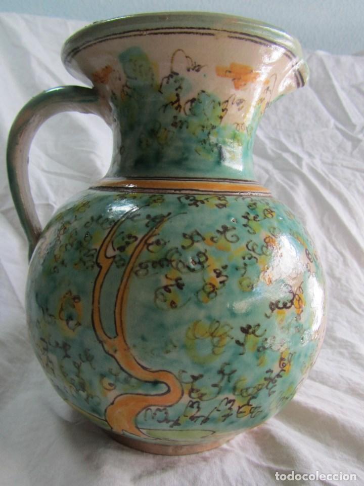 Antigüedades: Jarra de cerámica de Puente del Arzobispo Toledo Santa Fe - Foto 7 - 61848000